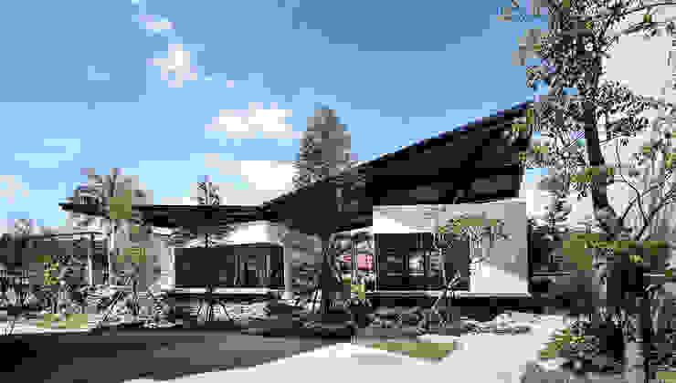 三連棟鋼構屋 根據 大桓設計顧問有限公司 現代風 金屬