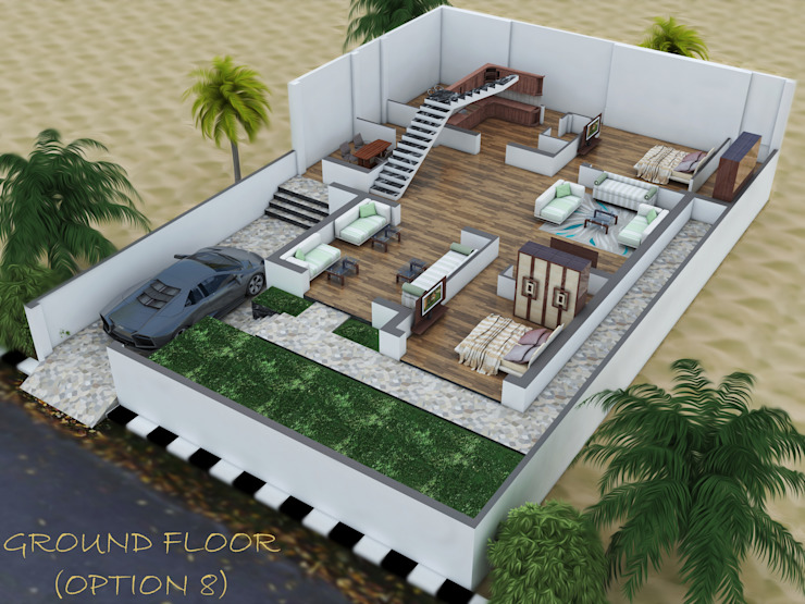 GF - 40+ Small House Design Ground Floor  PNG