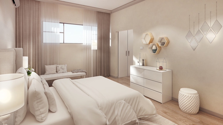 The girl's bedroom Dessiner Interior Architectural Modern style bedroom