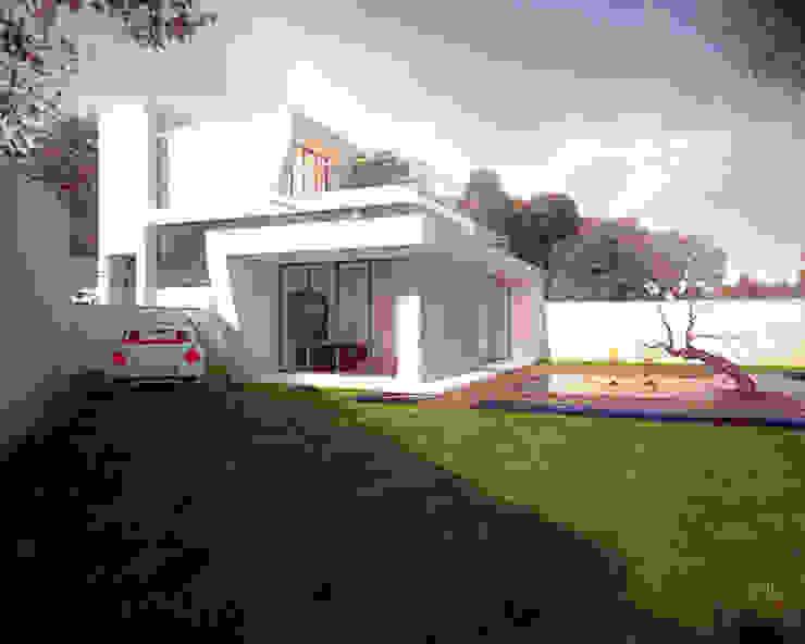 渡假會所設計案 根據 勻境設計 Unispace Designs 現代風 水泥