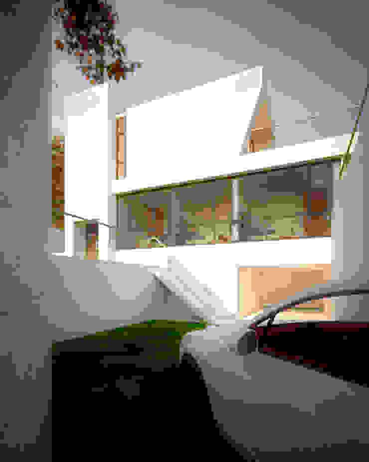 空間用途垂直區分 根據 勻境設計 Unispace Designs 現代風 水泥