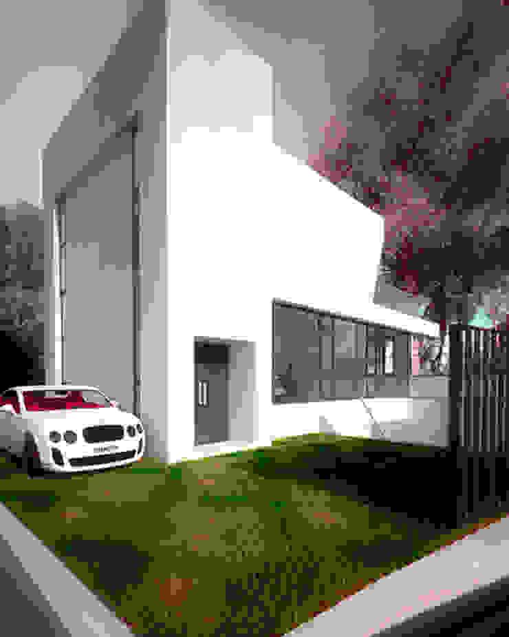 住宿區獨立出入口 根據 勻境設計 Unispace Designs 現代風 水泥