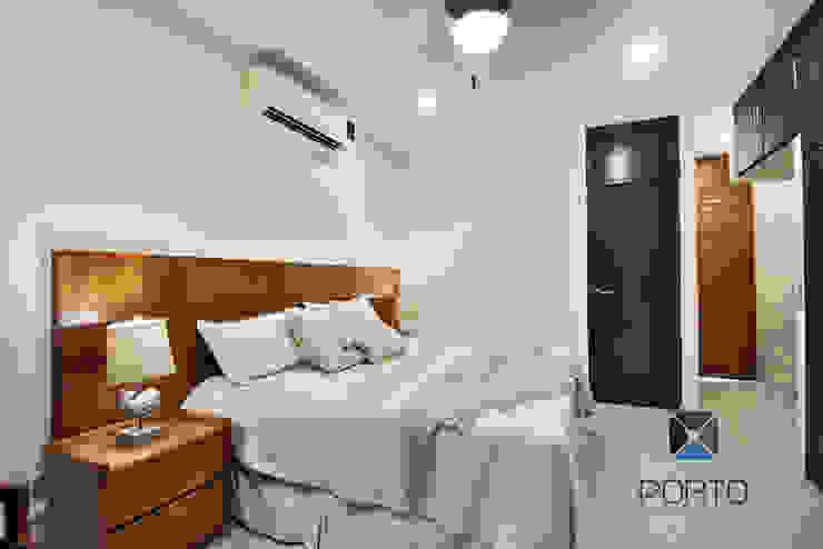 Kamar Tidur Gaya Mediteran Oleh PORTO Arquitectura + Diseño de Interiores Mediteran