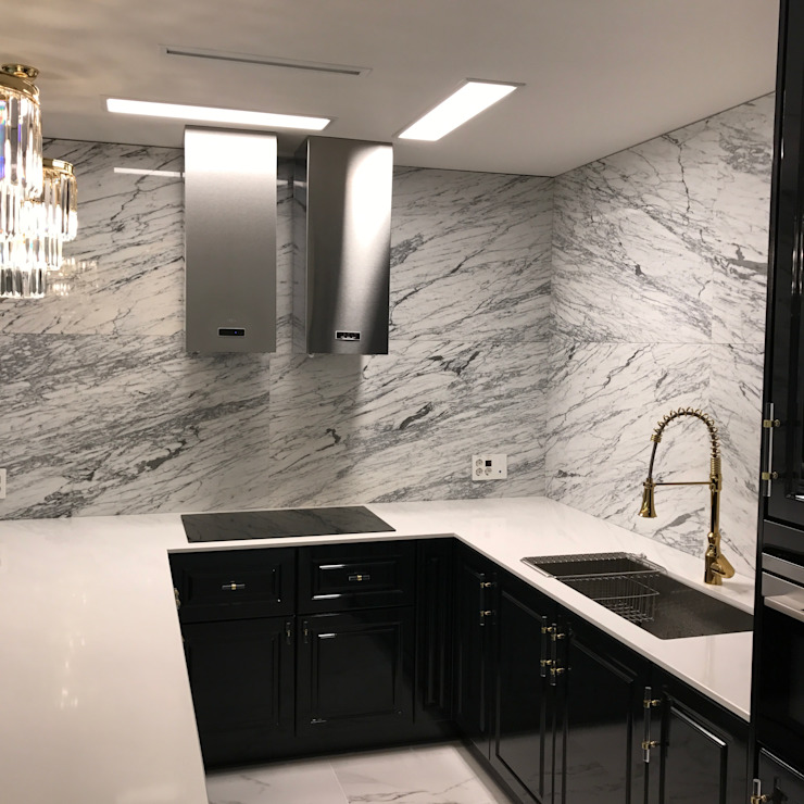 Built-in kitchens by 캐러멜라운지