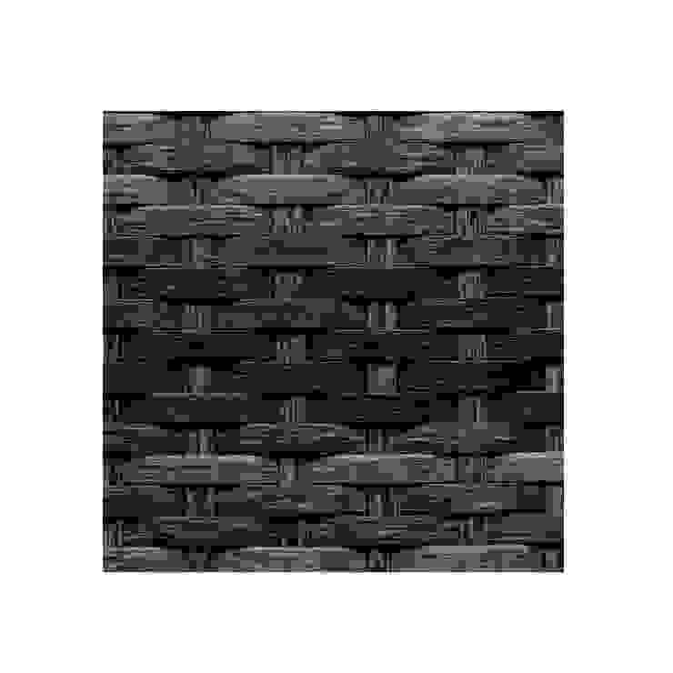 Muestra Rattan Negro Mixto de Afuera Diseño Sintético Marrón
