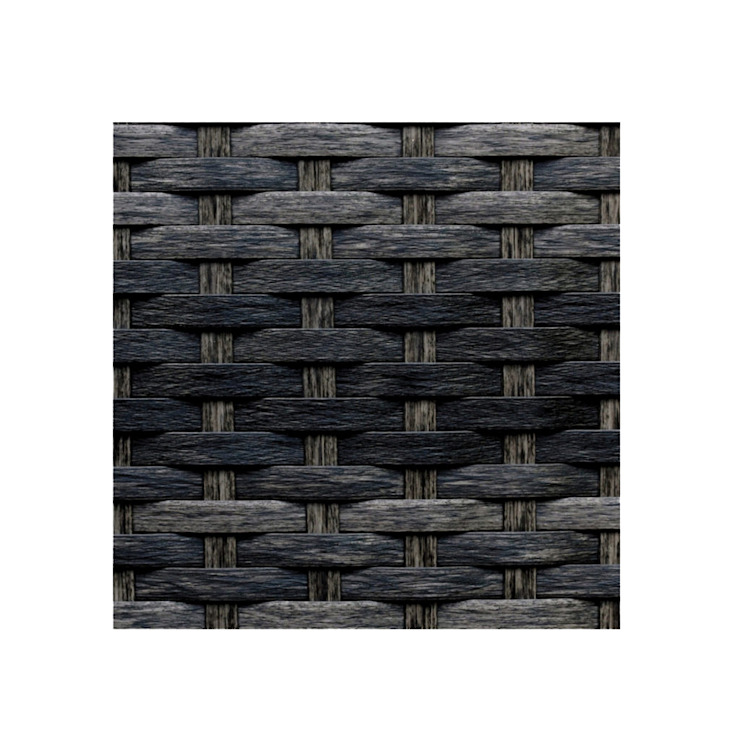 Muestra Rattan Negro Mixto de Afuera Diseño Ecléctico Sintético Marrón