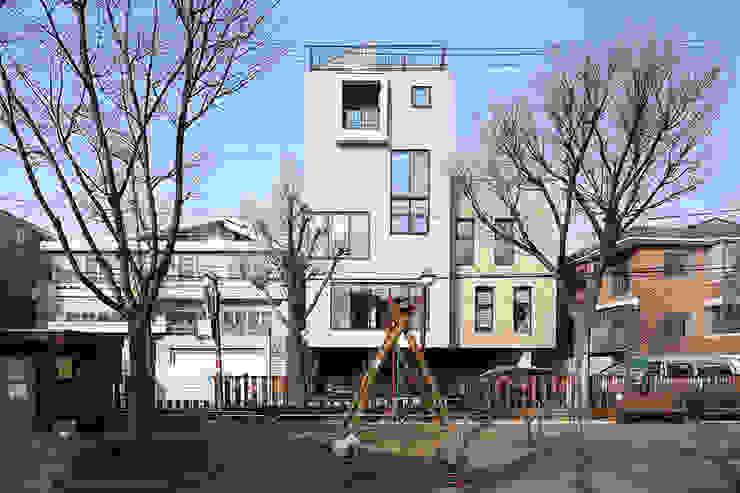 동측 전경 (주)건축사사무소 모도건축 회사 벽돌 그레이