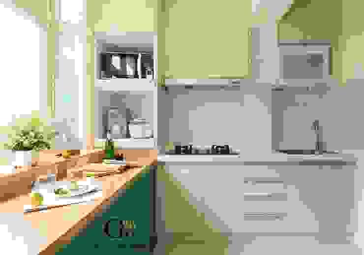 台北中和W宅 現代廚房設計點子、靈感&圖片 根據 勁懷設計 現代風