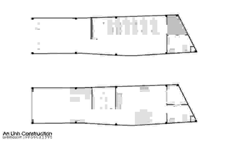 Công trình thiết kế xây dựng nhà phố tại quận Tân Bình bởi CÔNG TY THIẾT KẾ XÂY DỰNG AN LĨNH