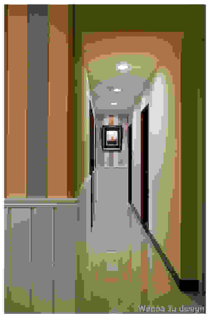 深白之悅 乡村风格的走廊,走廊和楼梯 根據 北歐制作室內設計 鄉村風
