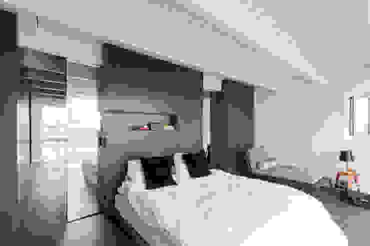 luxe maisonette in de Pijp - Bas Vogelpoel Architecten Amsterdam Moderne slaapkamers van Bas Vogelpoel Architecten Modern Hout Hout