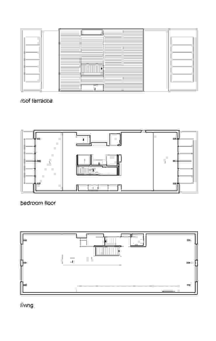 luxe maisonette in de Pijp - Bas Vogelpoel Architecten Amsterdam: modern  door Bas Vogelpoel Architecten, Modern