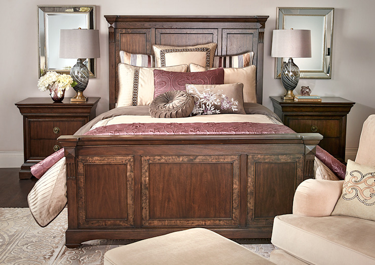 Brosnan Bed: classic  by Bombay Canada,Classic Wood Wood effect