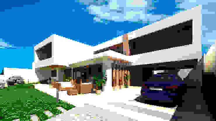 Vivienda unifamiliar de arQd spa Moderno Concreto reforzado