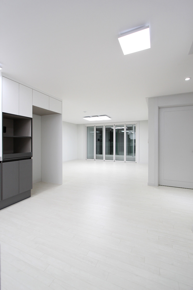 한 인테리어 베스트타운 아파트 모던스타일 거실 by 한 인테리어 디자인 모던