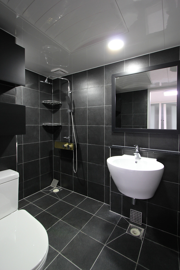 한 인테리어 베스트타운 아파트 모던스타일 욕실 by 한 인테리어 디자인 모던