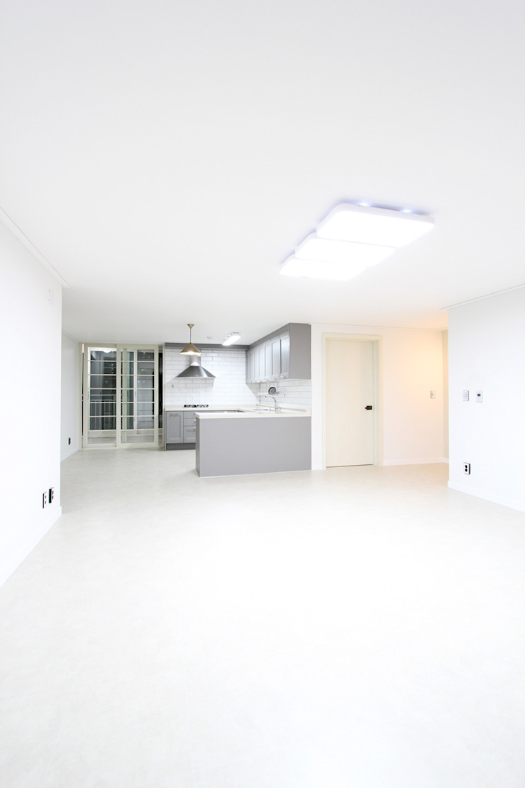 한 인테리어 청솔아파트 모던스타일 거실 by 한 인테리어 디자인 모던