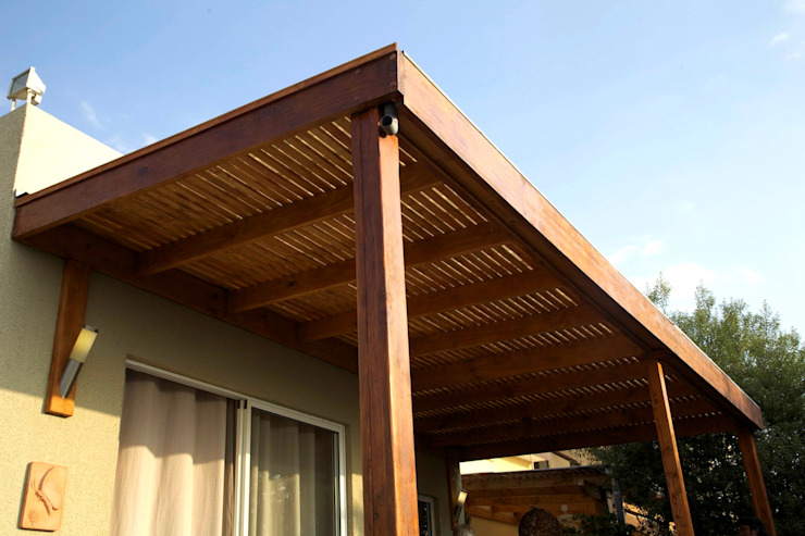 Proyecto – Dirección – Construccion de techo interior y pergola exterior – Mar del Plata. GRUPO CONSARQ Techos Madera