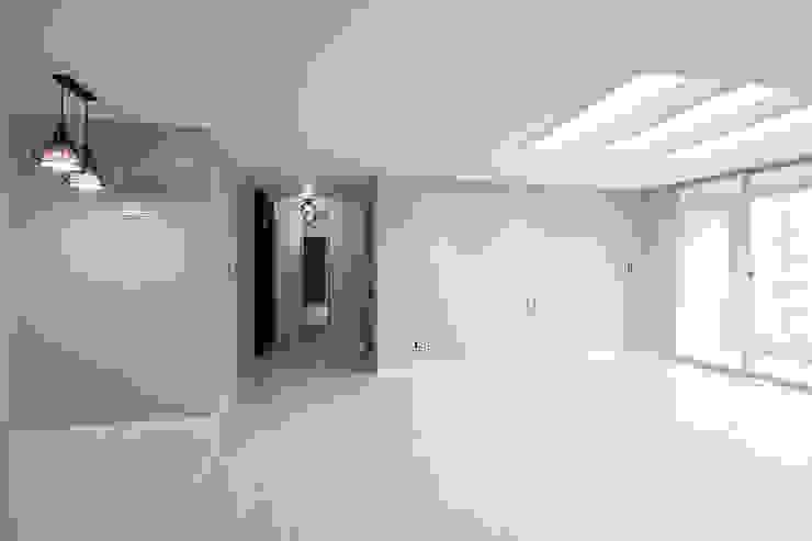 한 인테리어 현대3차 주공아파트 모던스타일 거실 by 한 인테리어 디자인 모던