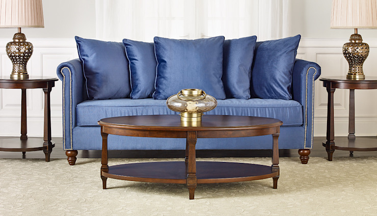 Salisbury Sofa: classic  by Bombay Canada,Classic Textile Amber/Gold