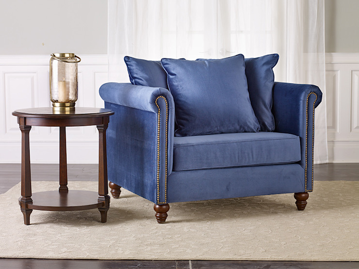Salibury Chair & 1/2: classic  by Bombay Canada,Classic Textile Amber/Gold