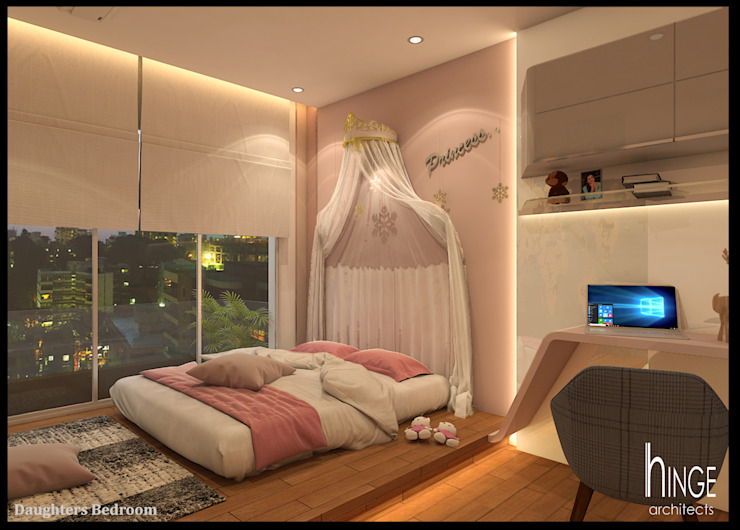 Interior Modern style bedroom by Hinge architects Modern