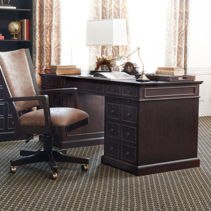 Stanton Desk Cognac: classic  by Bombay Canada,Classic Wood Wood effect