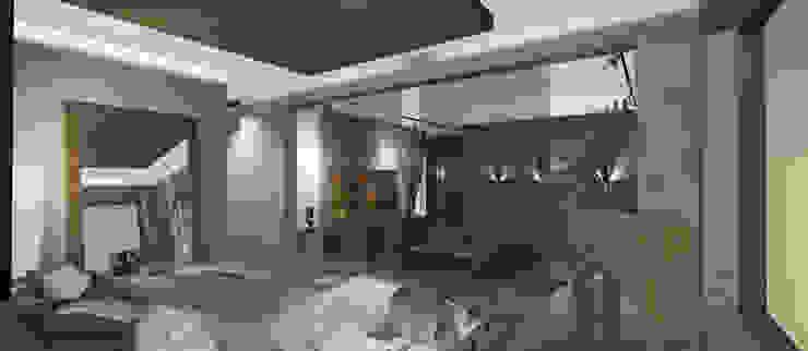 Dormitorio Abierto y Living Livings de estilo moderno de CB Luxus Inmobilien Moderno