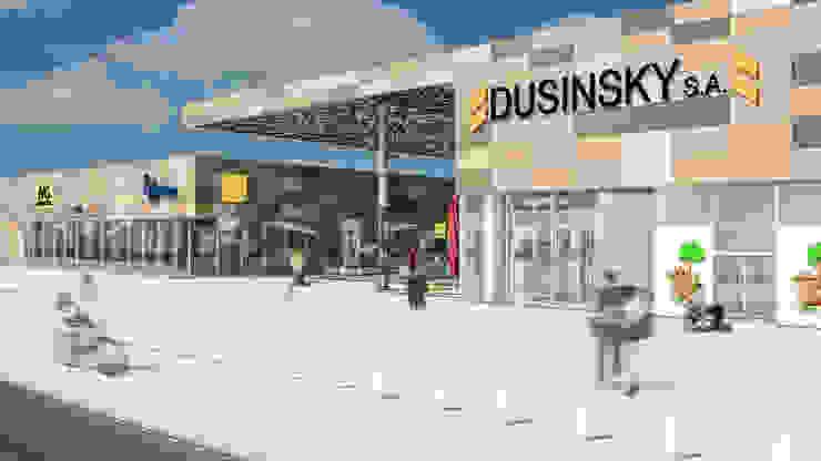 Camara 16 - Vista de acceso Centros comerciales modernos de DUSINSKY S.A. Moderno
