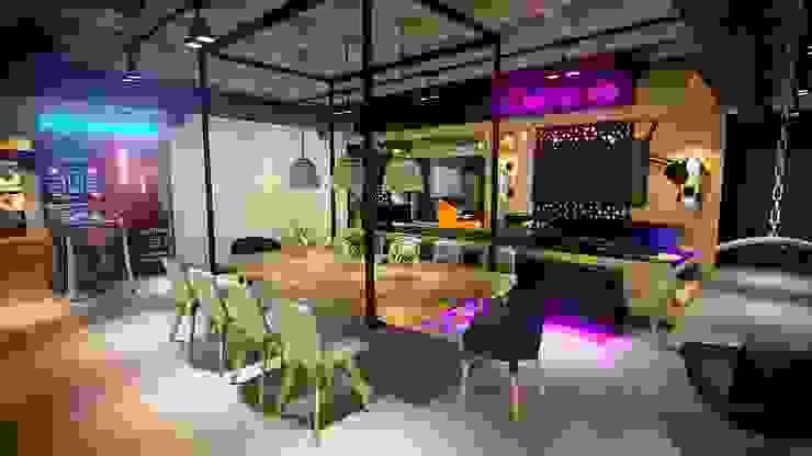 Projeto Sala Apartamento Ipanema Salas de jantar industriais por Gelker Ribeiro Arquitetura | Arquiteto Rio de Janeiro Industrial