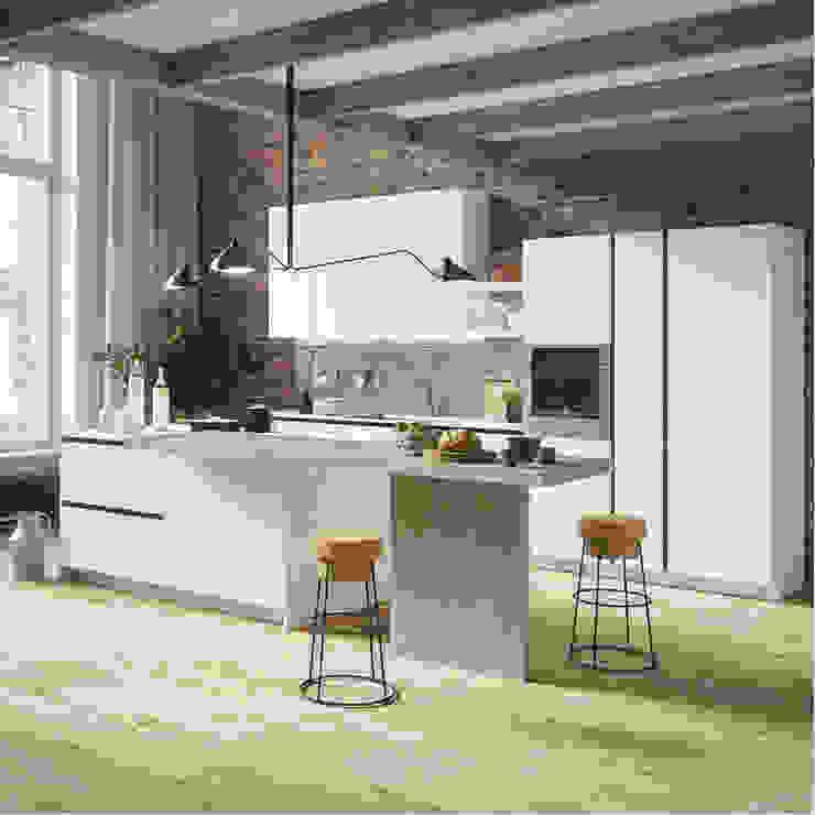 Tủ bếp Acrylic PMA: hiện đại  by Cổ phần xnk PMA Hà Nội, Hiện đại