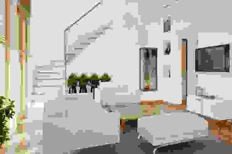 Phòng khách đẹp bởi Thương hiệu Nội Thất Hoàn Mỹ Hiện đại