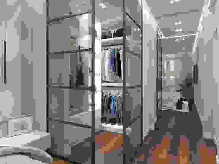Дизайн-проект просторной квартиры в Москве design4y Гардеробная в стиле модерн