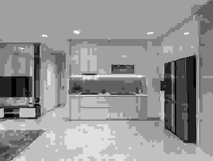 Căn hộ Vinhomes Golden River sang trong và trang nhã với thiết kế nội thất hiện đại Nhà bếp phong cách hiện đại bởi ICON INTERIOR Hiện đại