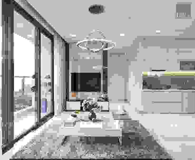 Căn hộ Vinhomes Golden River sang trong và trang nhã với thiết kế nội thất hiện đại bởi ICON INTERIOR Hiện đại