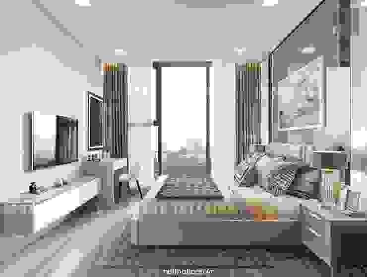 Căn hộ Vinhomes Golden River sang trong và trang nhã với thiết kế nội thất hiện đại Phòng ngủ phong cách hiện đại bởi ICON INTERIOR Hiện đại