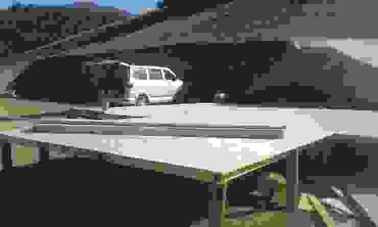 radier Casas de estilo rural de Servicios Express Valparaíso Rural Madera Acabado en madera