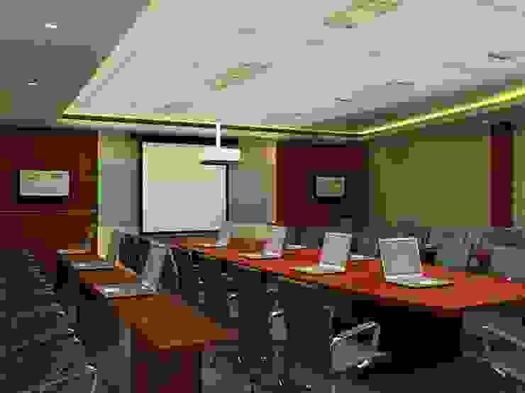 Meeting room 2nd floor view-1 Bangunan Kantor Modern Oleh Cendana Living Modern