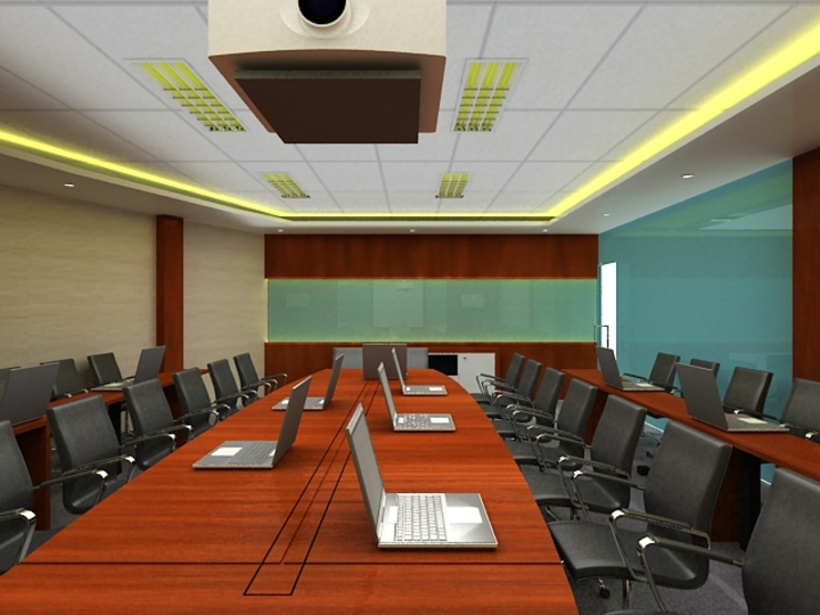 Meeting room 2nd floor view-2 Bangunan Kantor Modern Oleh Cendana Living Modern
