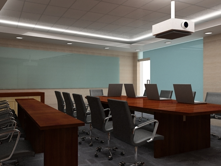 Meeting room 3rd floor view-1 Bangunan Kantor Modern Oleh Cendana Living Modern