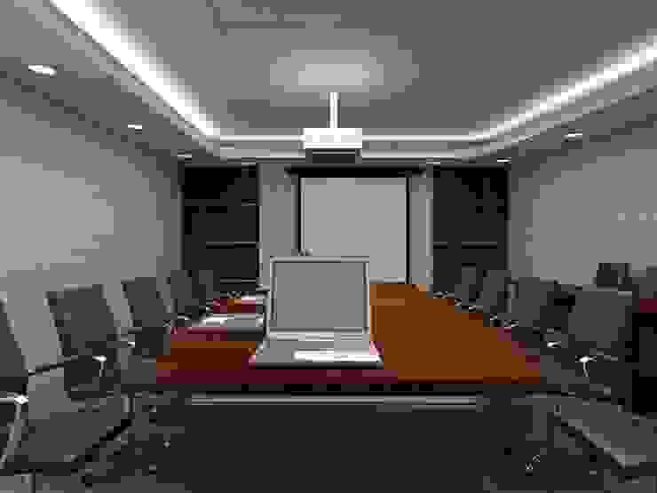 Meeting room 3rd floor view-2 Bangunan Kantor Modern Oleh Cendana Living Modern