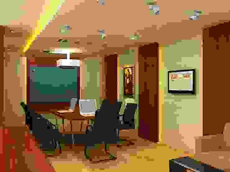 Meeting room 4th floor view-1 Bangunan Kantor Modern Oleh Cendana Living Modern