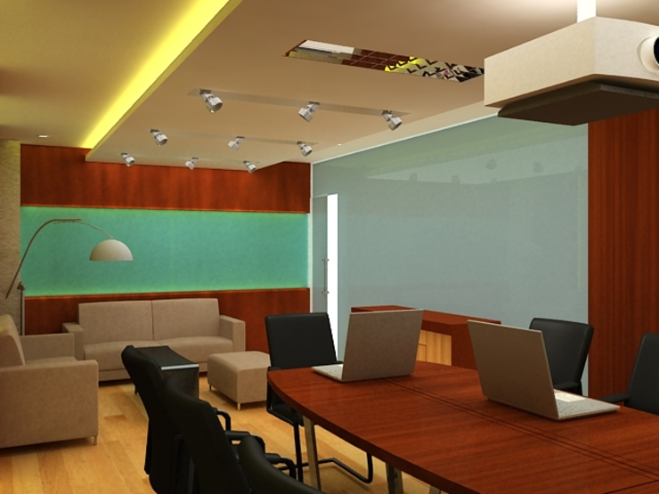 Meeting room 4th floor view-2 Bangunan Kantor Modern Oleh Cendana Living Modern