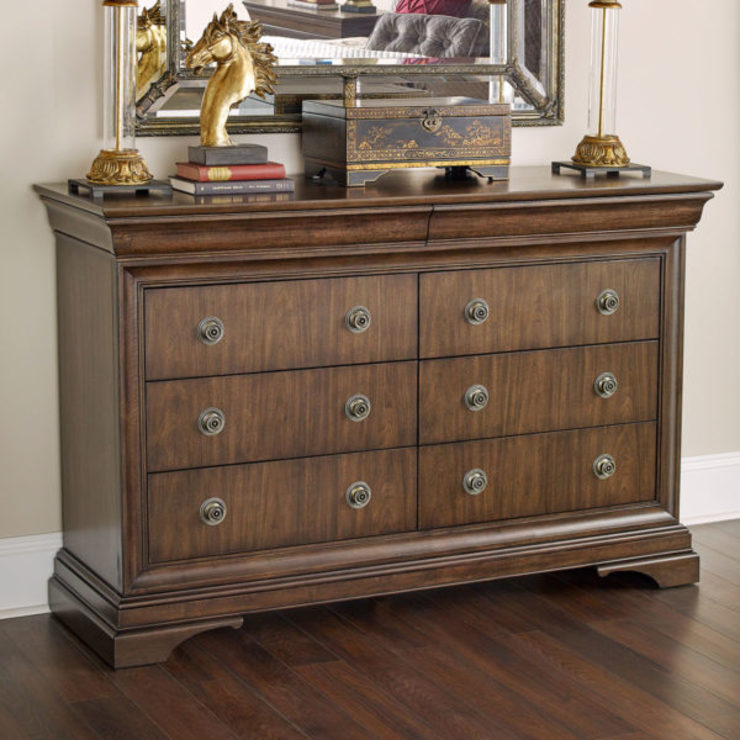 Brosnan Dresser: classic  by Bombay Canada,Classic Wood Wood effect