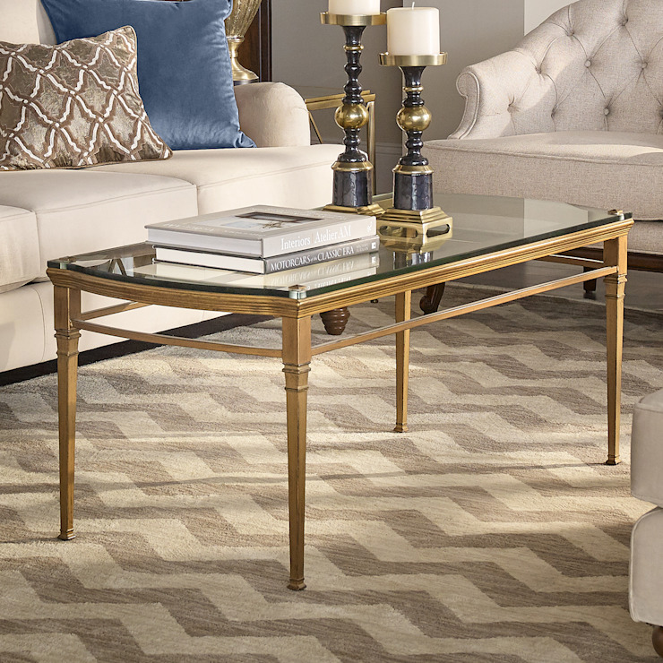 Castleton Coffee Table: classic  by Bombay Canada,Classic Glass