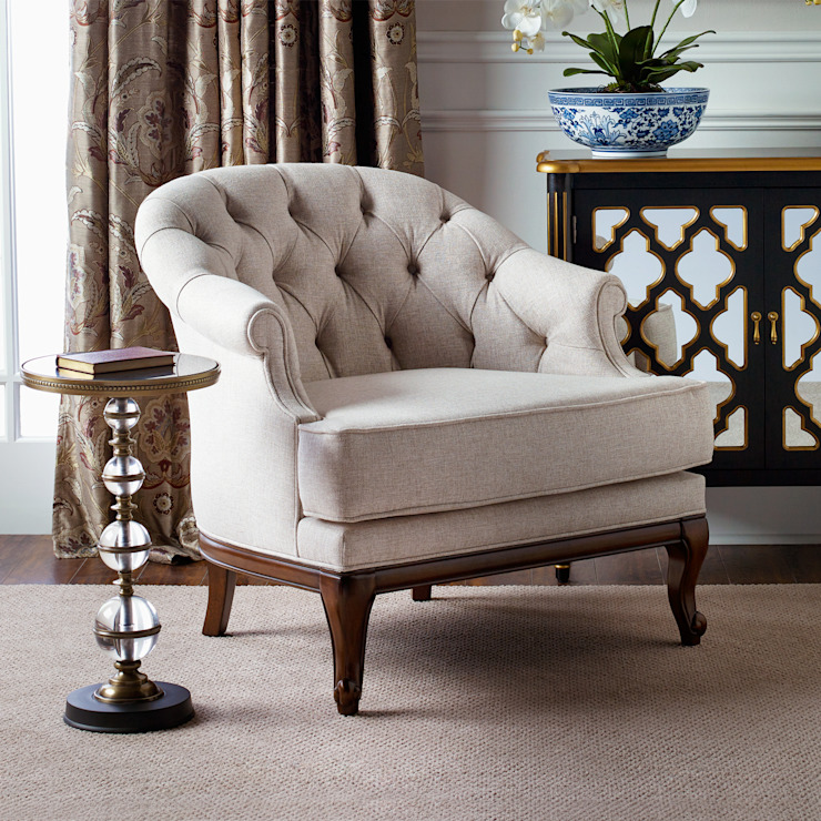 Swanson Occasional Chair: classic  by Bombay Canada,Classic Textile Amber/Gold