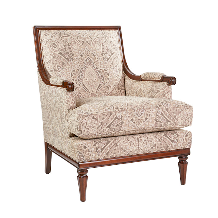 Stanwyck Occasional Chair: classic  by Bombay Canada,Classic Textile Amber/Gold