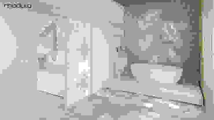 LOFT inspirowany stylem marokańskim. Eklektyczna łazienka od MODULO Pracownia architektury wnętrz Eklektyczny