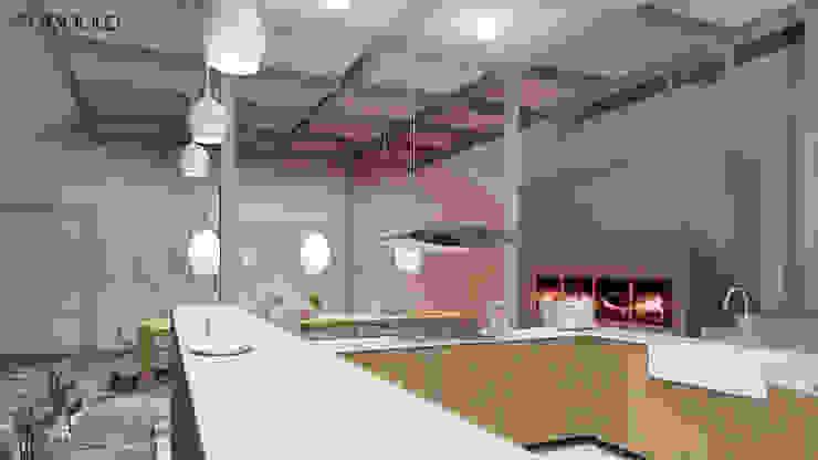 LOFT inspirowany stylem marokańskim. Eklektyczna kuchnia od MODULO Pracownia architektury wnętrz Eklektyczny