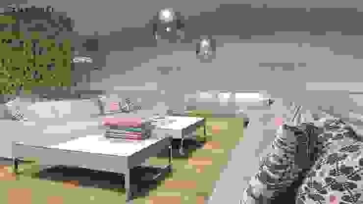 LOFT inspirowany stylem marokańskim. Eklektyczny salon od MODULO Pracownia architektury wnętrz Eklektyczny